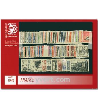 n° 669/747  - Selo França Ano completo  (1945)