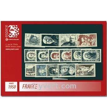 n° 863/877  - Selo França Ano completo  (1950)
