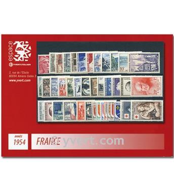 n° 968/1007  - Sello Francia Año completo  (1954)