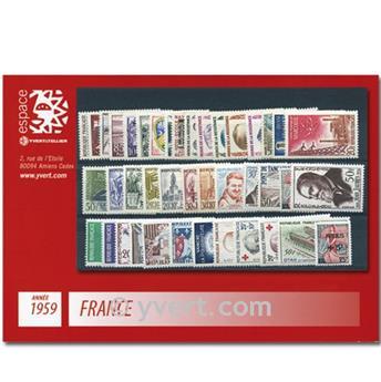 n° 1189/1229  - Sello Francia Año completo  (1959)