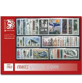 n° 1368/1403  - Sello Francia Año completo  (1963)