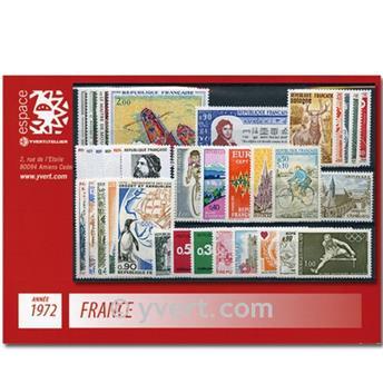 n° 1702/1736  - Timbre France Année complète  (1972)