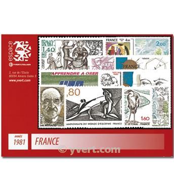 n° 2118/2177  - Selo França Ano completo  (1981)