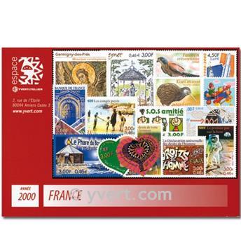n 3294 3366 timbre france ann e compl te 2000 yvert et tellier philat lie et numismatique. Black Bedroom Furniture Sets. Home Design Ideas