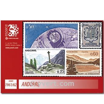 n° 153A/165 -  Timbre Andorre Année complète (1961/1962)