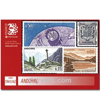nr. 153A/165 -  Stamp Andorra Year set (1961/62)