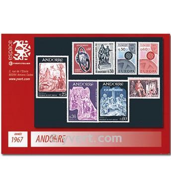 n° 179/186 -  Selo Andorra Ano completo (1967)