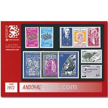 n° 217/225A -  Selo Andorra Ano completo (1972)