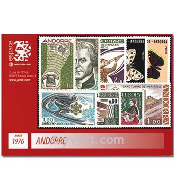 n° 251/259 -  Selo Andorra Ano completo (1976)