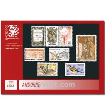 n° 337/344 -  Selo Andorra Ano completo (1985)