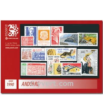 nr. 385/399A -  Stamp Andorra Year set (1990)
