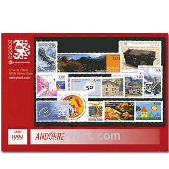 n° 512/524 -  Selo Andorra Ano completo (1999)