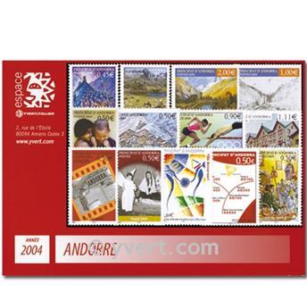 n.o 591 / 603 -  Sello Andorra Año completo (2004)