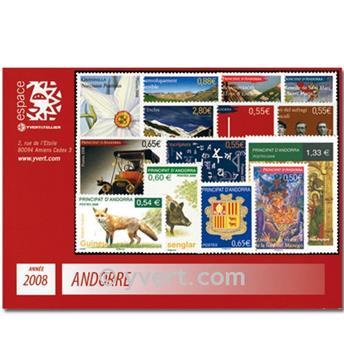 n.o 649/665 -  Sello Andorra Año completo (2008)