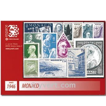 n° 274/300 -  Selo Mónaco Ano completo (1946)