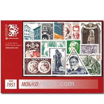 n° 351/382B -  Selo Mónaco Ano completo (1951)