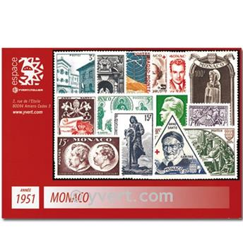 n° 351/382B -  Timbre Monaco Année complète (1951)