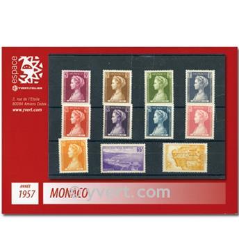 n.o 478 / 488 -  Sello Mónaco Año completo (1957)