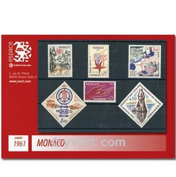 n.o 551 / 570 -  Sello Mónaco Año completo (1961)