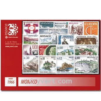 n° 677/707 -  Selo Mónaco Ano completo (1966)