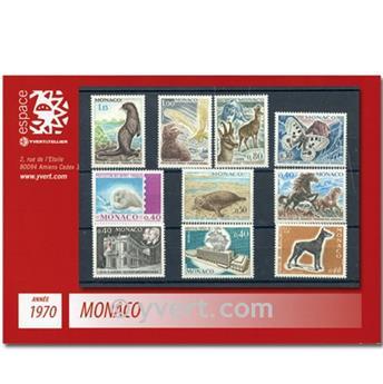 n° 809/846 -  Selo Mónaco Ano completo (1970)
