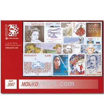 n° 2588/2603 -  Timbre Monaco Année complète (2007)