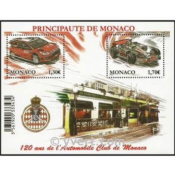 n.o 95 -  Sello Mónaco Bloque y hojitas