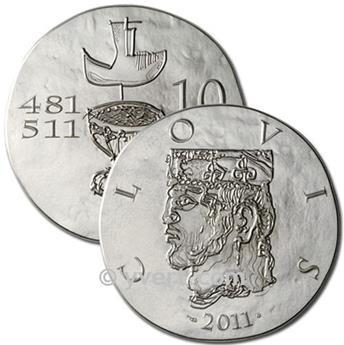 10 EUROS ARGENT - FRANCE - CLOVIS