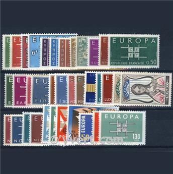 1963** - Année complète neuf EUROPA