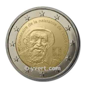 2 EURO COMMEMORATIVE 2012 : FRANCE (ABBE PIERRE)