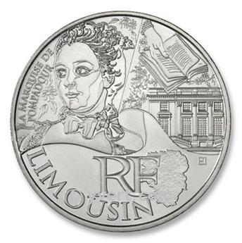 10 € DAS REGIÕES - Limousin  - 2012