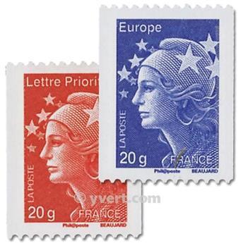n.o 4572 / 4573 -  Sello Francia Correos