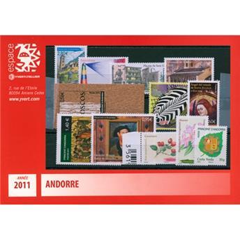 n.o 704 / 717 -  Sello Andorra Año completo (2011)