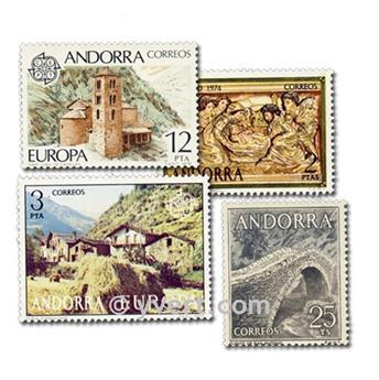 ANDORRE ESPAGNOL : pochette de 25 timbres