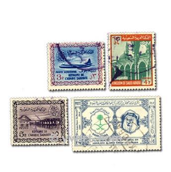 SAOUDI ARABIA: envelope of 50 stamps
