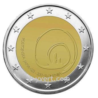 2 EURO COMMEMORATIVE 2013 : SLOVÉNIE (800e anniversaire de la découverte de la Grotte de Postojna)