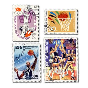 BASKETBALL: envelope of 25 stamps