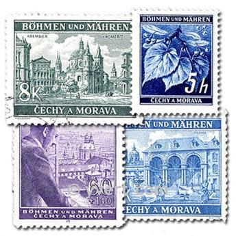BOÊMIA E MORAVIA : lote de 150 selos