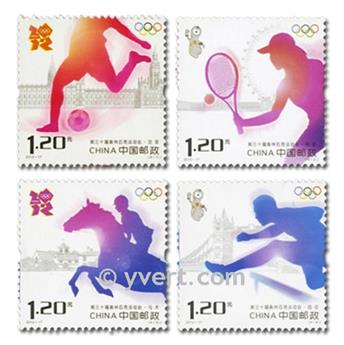 n°4929/4932 - Timbre Chine Poste