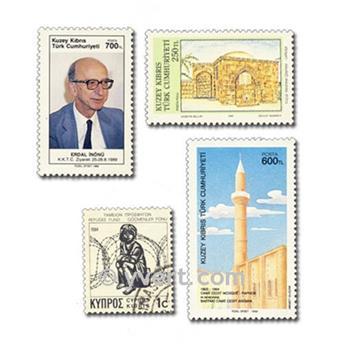 CHYPRE : pochette de 50 timbres