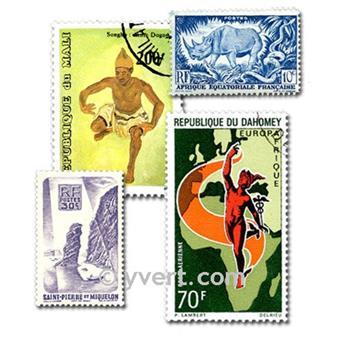 COLÔNIAS FRANÇA ANTES INDEPENDÊNCIA : lote de 500 selos