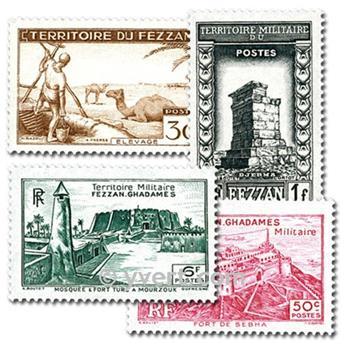 FEZZAN: envelope of 10 stamps