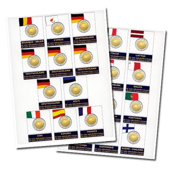 Recharges 2 EUROS commémoratifs 2015 - MARINI® (DRAPEAU EUROPÉEN)