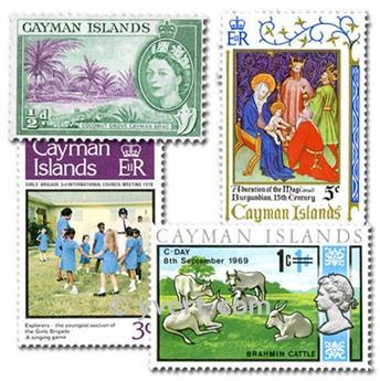 CAIMAN ISLANDS: envelope of 50 stamps