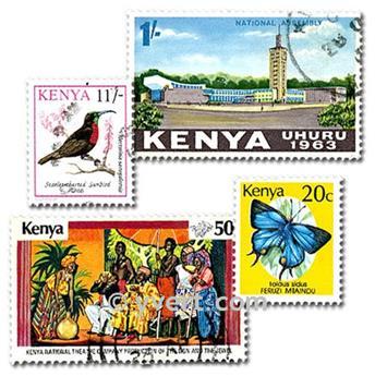 KENYA : pochette de 50 timbres