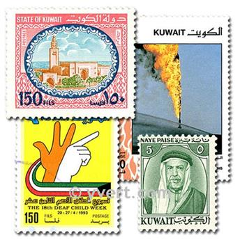 KOWEIT : pochette de 50 timbres