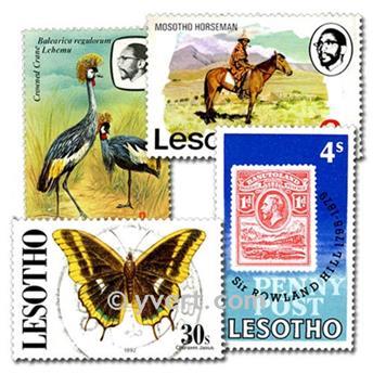 LESOTHO : pochette de 50 timbres