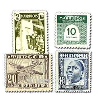 MARRUECOS ESPAÑOL: lote de 50 sellos