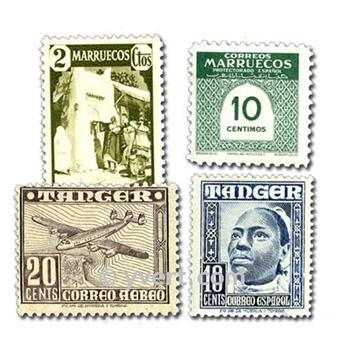 SPANISH MOROCCO: envelope of 50 stamps