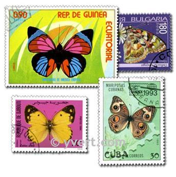 PAPILLONS : pochette de 100 timbres